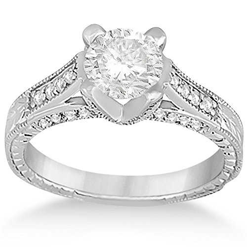 (Antique Style Diamond Engagement Ring Setting Palladium (0.40ct))