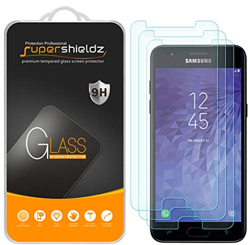 [3-Pack] Supershieldz for Samsung Galaxy J3 V J3V (3rd Gen) / J3 (3rd Generation) (Verizon) Tempered Glass Screen Protector, Anti-Scratch, Bubble Free, Lifetime Replacement