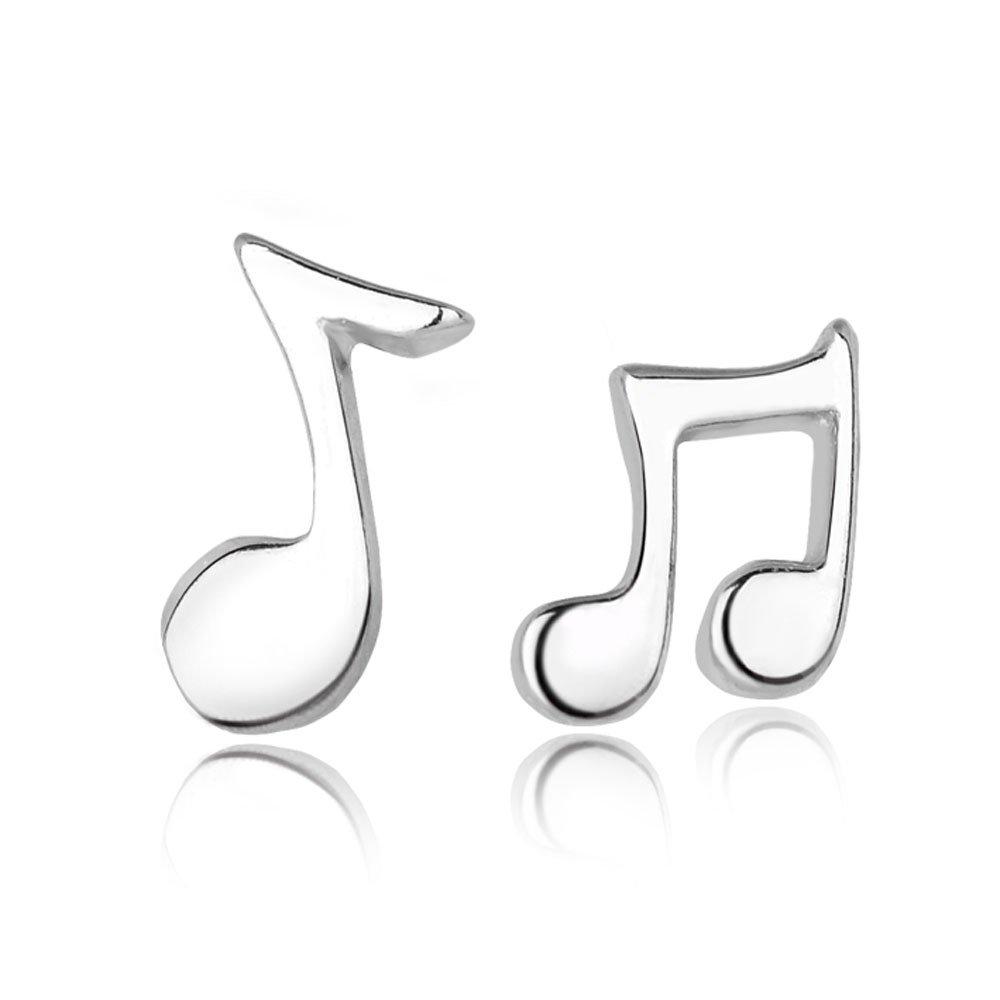 925 Sterling Silver Music Notes Earrings-Lady Love Earrings (Allergy-Prevention)