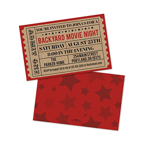 Personalized Backyard Movie Night Invitations ()