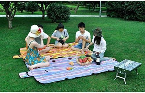 CAOMING Coperte di Campeggio Portatile Famiglia Viaggio Tote Esterna Impermeabile Pieghevole stuoia di Picnic della Lavabile in Lavatrice (Color : C, Size : 78.7inx59in)