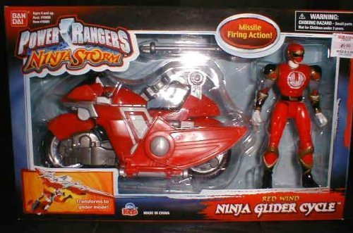 Power Rangers Ninja Storm Ninja Glider Cycle Red Wind by ...