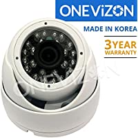 ONEViZON Professional 1080p TVI-CVBS Outdoor Turret Eyeball Camera 2.8mm 24 LED Made in KOREA