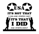 US Veteran-Because You Stood Guard For Others-A Unique Veteran Gifts Offer-High Quality Black Vinyl Wall Decal-Made In The USA-Men And Women All American US Military Veterans-Thank You Veterans