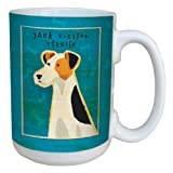 Tree-Free Greetings sg43986 Jack Russell Terrier by John W. Golden Ceramic Mug with Full-Sized Handle, 15-Ounce