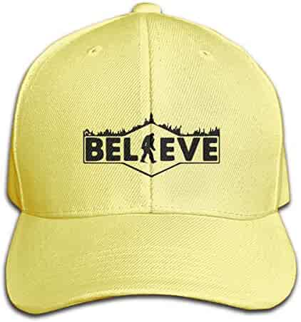 08a3c2fa STWINW Believe Orangutan Men's Vintage Twill Baseball Cap Outdoor Cap  Mountain Dad Hat Adjustable Cotton Baseball