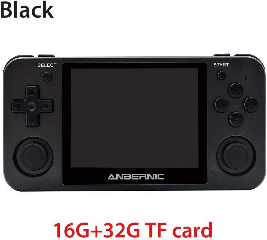 Weitong Handheld Spielekonsole mit 3.5-Zoll-IPS-Bildschirm Preload 10000 Spiele Opendingux System Geschenke f/ür Kinder