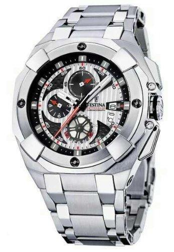 Festina F16351/3 - Reloj cronógrafo de caballero de cuarzo con correa de acero inoxidable plateada - sumergible a 100 metros: Festina: Amazon.es: Relojes