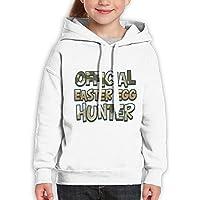 Vintopia Teen Boys Camo Official Easter Egg Hunter Classic Walk White Hoodie