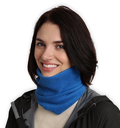 Tough Headwear Fleece Neck Warmer - Neck Gaiter Tube, Ear Warmer Headband & Face Mask. Ultimate Thermal Retention, Versatility & Style. Constructed with Super Soft Fleece & - Head Scarf Bandit