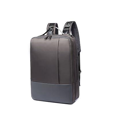3585fba774f8 リュックサック レディース メンズ グレー ビジネス リュック シンプル ディバッグ メンズ 大人 四角 ボックス型 大