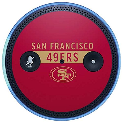 Skinit NFL San Francisco 49ers Amazon Echo Plus Skin - San Francisco 49ers Red Performance Series Design - Ultra Thin, Lightweight Vinyl Decal Protection