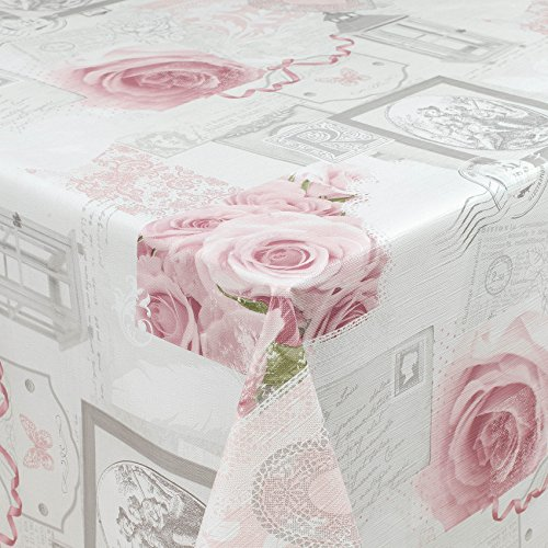 ANRO Tischdecke Wachstuch Wachstischdecke Wachstuchtischdecke abwaschbar Grau Blätter Abstrakt Modern Stimmung Rund 100cm