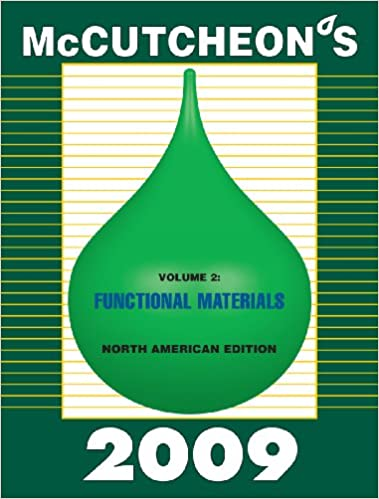 Download 2009 McCutcheon's Functional Materials: North American Edition PDF, azw (Kindle), ePub