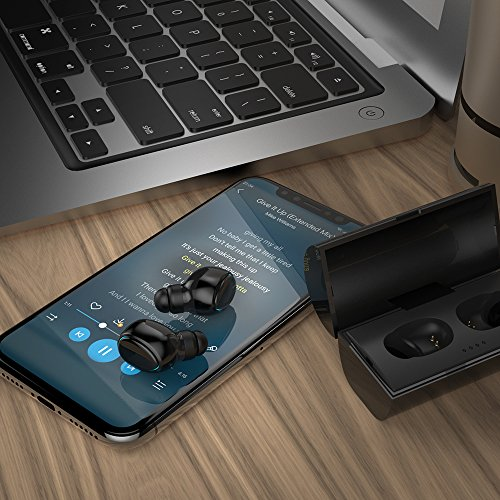 True Wireless Earbuds, Supology Bluetooth 5.0 in-Ear Headphones with 3D Bass Sound,4H Playtime,Binaural Call and Auto Pairing,Sweatproof Wireless Headphones for Gym TV Mobile Game by SUPOLOGY (Image #6)