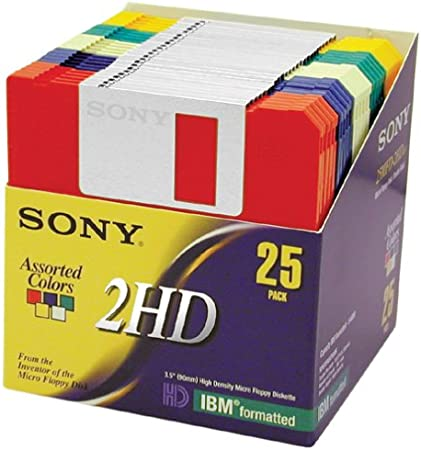 """10 PK FEW LEFT Sealed SONY 2HD IBM Formatted Micro 3.5/"""" 1.44MB Floppy Diskettes"""