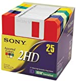 Sony 2HD 3.5'' IBM Formatted Floppy Disks (25-Pack) (Discontinued by Manufacturer)