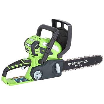 Greenworks Motosierra inalámbrica de 30cm y 40V Li-Ion con batería ...