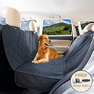 YoGi Prime Dog seat Cover for Back seat - Hammock Dog car seat Covers for Large Dogs, Waterproof, protrct Your Vehicle only with Durable Back seat Cover for Dogs - Universal fit for Most Cars 44