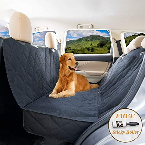 (YoGi Prime Dog seat Cover for Back seat - Hammock Dog car seat Covers for Large Dogs, Waterproof, protrct Your Vehicle only with Durable Back seat Cover for Dogs - Universal fit for Most Cars)