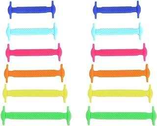 5cinq de bracelet élastique en silicone pour chaussures pour enfant (lot de 12pcs)