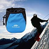 Ruier-hui Climbing Chalk Bag with Belt and Zippered Pocket for Climbing, Bouldering, Gymnastics, Weight Lifting 2 Colors