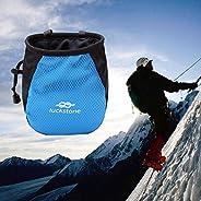 Ruier-hui Climbing Chalk Bag with Belt and Zippered Pocket for Climbing, Bouldering, Gymnastics, Weight Liftin