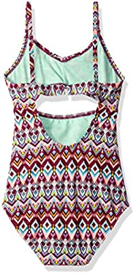 Gossip Girl Big Girls' Deco Diamond One Piece Swimsuit