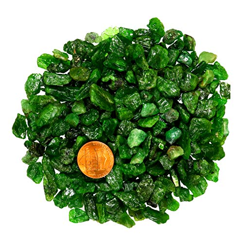 Green Chorme Diopside Gemstone Russian 121.00 Ct Natural UNTREATED Rough for Polishing, Wire Wrapping,Cabbing, Tumbling, Lapidary, Wicca & Reiki Crystal Healing Raw - Very Rough Green Rare