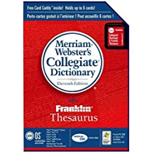 Palm Merriam-Webster's Collegiate Dictionary and Franklin Thesaurus (P10935U)