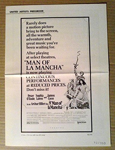 Pressbook~ Man LA Mancha ~1972 ~Peter O'Toole ~Sophia Loren ~James Coco