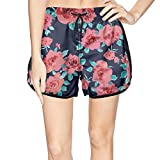 XULANG Pretty Women Abstract Pink Floral Prints Swim Trunks Swim Swimming Breathable Boardshorts