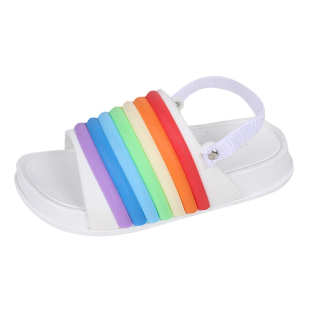 Cloudro Little Boys Girls Sandals Candy Beach Shoes Soft Sole Slippers for 1-5 Years
