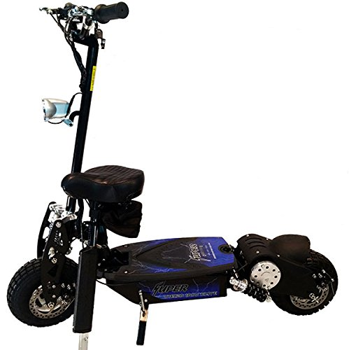 Super 36v Turbo 1000-Elite Electric Scooter with Econo/Turbo Mode Button, Black