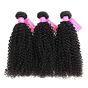 Original Queen 100% Brazilian Unprocessed Virgin Kinky Curly Human Hair Weave 3 Bundles Deep Curly Hair Extensions Mixed Length 8 8 8inches by Original Queen