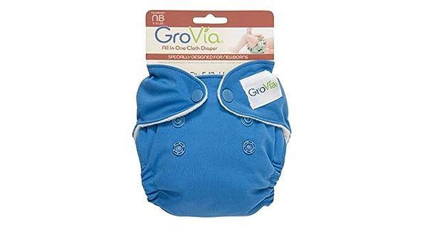 GroVia orgánico algodón recién nacido pañales - nuevo estilo todo en uno (AIO) TOPAZ: Amazon.es: Bebé