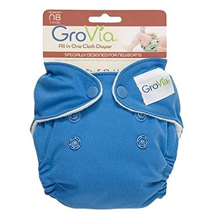 GroVia orgánico algodón recién nacido pañales – nuevo estilo todo en uno (AIO) TOPAZ