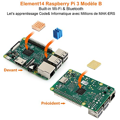 Globmall ABox Kit de iniciación Raspberry Pi 3 modelo B - Con ...