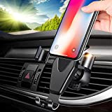 Car Phone Mount, YUNSONG Universal Car Air Vent Phone Mount Holder Cradle With Gravity Self-locking One-Touch Design For iPhone X 8 Plus 7 Plus Samsung Galaxy S8 LG Nexus Sony Nokia and More