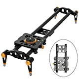 Ashanks 39'' 100cm Carbon Fiber Dslr Camera Slider Rail Track Dolly Video Stabilizer with 6 Bearings for DSLR Camera DV Video Camcorder Film Photography