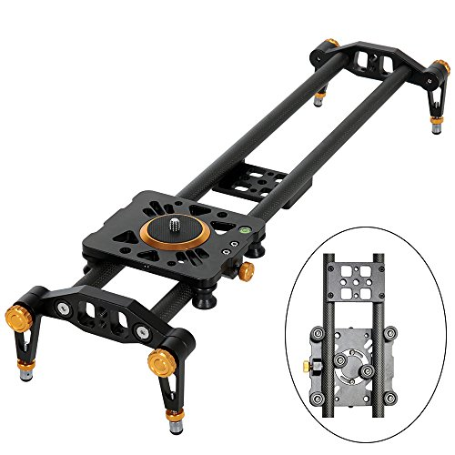 "Ashanks 39"" 100cm Carbon Fiber Dslr Camera Slider Rail Track Dolly Video Stabilizer with 6 Bearings for DSLR Camera DV Video Camcorder Film Photography"