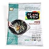 Moosankim Organic Roast Seaweed Full Size 5 sheets x 10packs, without Acid Treatment