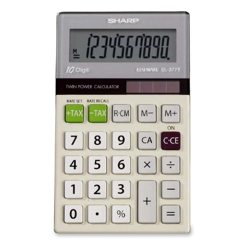 Sharp EL 377TB 10 Digit Punctuation Calculator