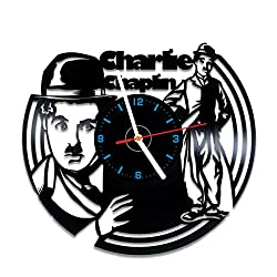 Charlie Chaplin vinyl record wall clock, nice home decor, best gift idea