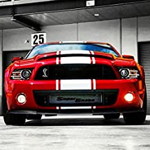 Decal Sticker Graphic Front to Back Stripe Kit Compatible with Dodge Ram