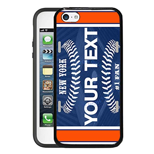 BRGiftShop Personalize Your Own Baseball Team New York Orange Rubber Phone Case For Apple iPod Touch 5th & 6th Generation