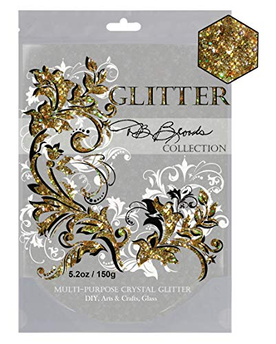 DB Brooks Collection (Gold Holographic) Crystal Pigment Additive Glitter 150g/5.2oz Slime, Candle Making, Soap, Polymer Clay Projects Epoxy Resin Hair Cosmetic Nails Face Painting -