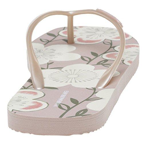 Emporio Armani Floral Flip Femme Sandales Rose Rose Gkr6K