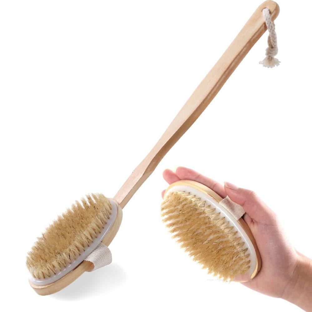 Mitrc Cepillo Desmontable para el Cuerpo de la Ducha, excelente Piel Exfoliante y Celulitis - Use Cepillado en húmedo o en seco - Hombres y Mujeres ...