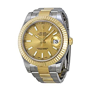 Rolex Datejust II Champagne Dial 18k Two-tone Gold Mens Watch 116333CSO